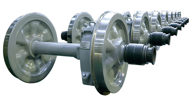 Wheel and Axle with gear unit