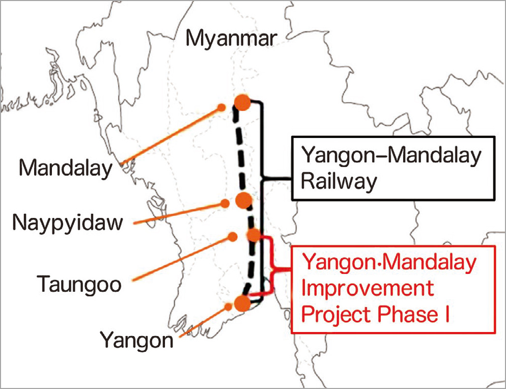24 units of DEMU will run between Yangon and Taungoo, and its distance is 267km.